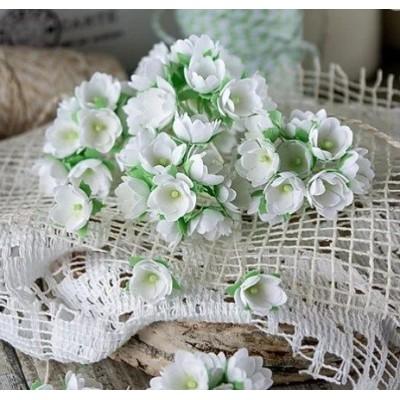 Набор цветов Малыши белые 1 см