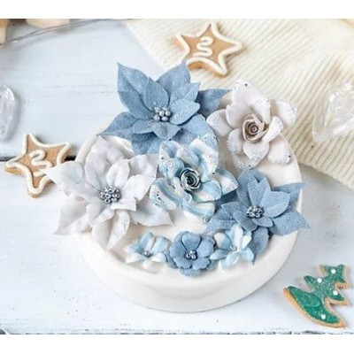 Набор цветов Сказочная зима, голубой