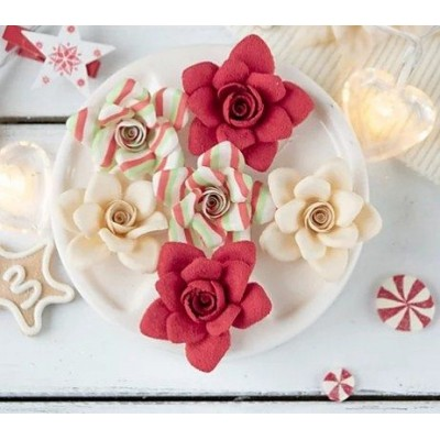 Набор цветов Сказочная зима, красный, розы