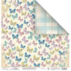 Бумага для скрапбукинга Бабочки 30,5 х 30,5 см