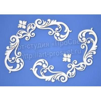 Чипборд Уголки с цветами 20,8 x 13,8