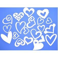 Чипборд Набор сердечек